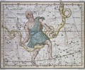 Ophiuchus or Serpentarius from A Celestial Atlas - A. Jamieson