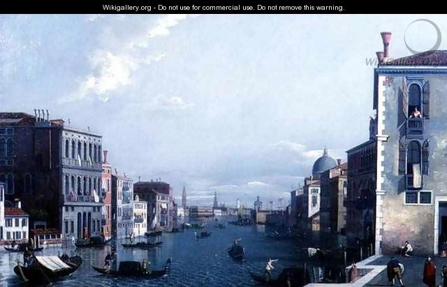 The Grand Canal looking towards the Dogana and the Doges Palace - William James