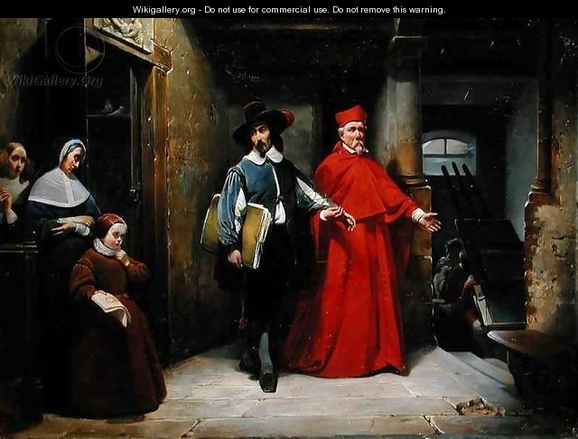 A Cardinal Looking for Ribera in his Studio in Naples - Claude Jacquand