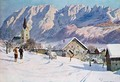 Mitterndorf in Austria after an original watercolour - (after) Jahn, Gustave