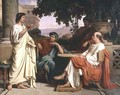 Horace Virgil and Varius at the house of Maecenas - Charles François Jalabert