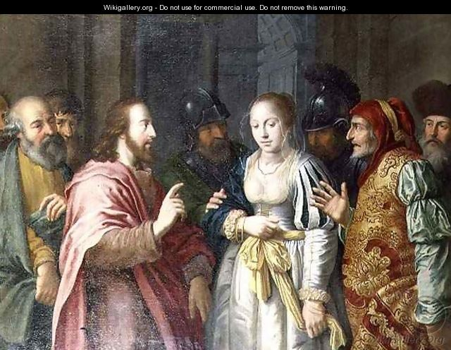 Christ and the Woman Taken in Adultery - Lambert Jacobsz or Jacobs