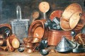 Still Life with Kitchen Utensils - Cornelis Jacobsz Delff