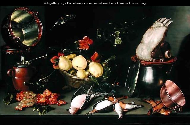 Still Life with Fruit and Cooking Utensils - Cornelis Jacobsz Delff