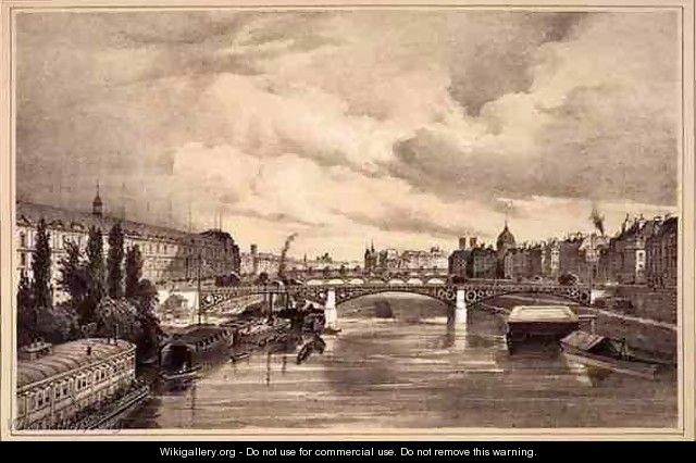 View of the Pont Royal - (after) Jacottet, Jean