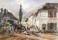 Arrival and Repair of a Stagecoach at Luz on the Road to Barreges - (after) Jacottet, Jean