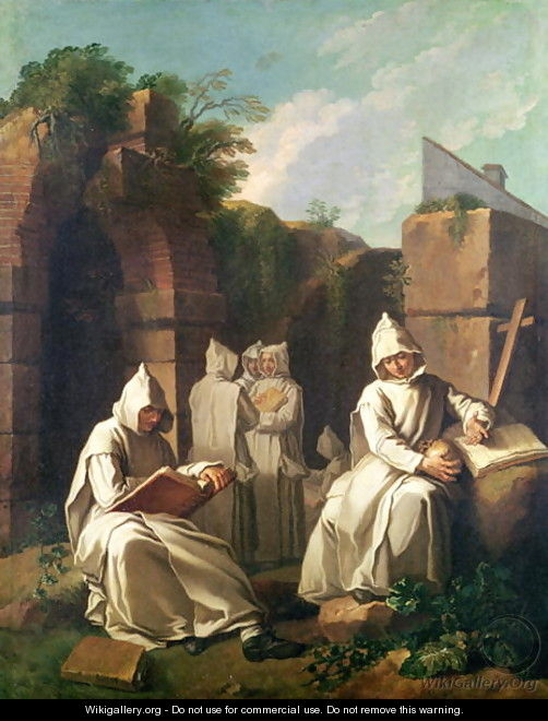 Carthusian Monks in Meditation - Etienne Jeaurat