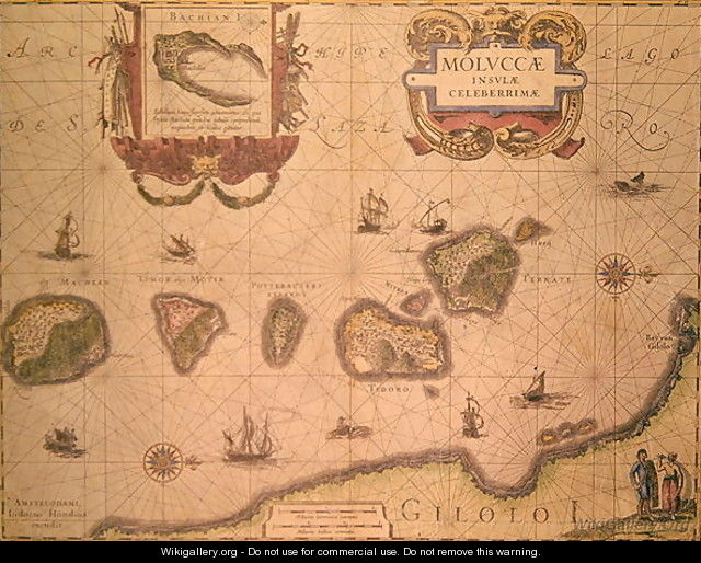 Map showing the Molucca Islands off Halmahera 2 - Joannes Jansson