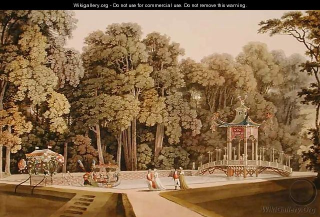 The Chinese Pavilion in the Laxenburg Gardens Vienna - (after) Janscha, Laurenz