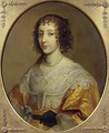Portrait of Henrietta Maria 1609-69 Queen consort of Charles I of Great Britain and Ireland - Cornelius Janssens van Ceulen