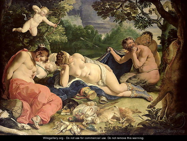 Diana and Nymphs Sleeping Visited by Satyrs - Abraham Janssens van Nuyssen