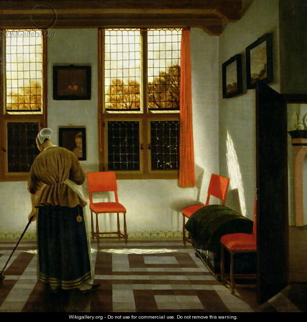 A Dutch Interior - (Elinga) Pieter Janssens