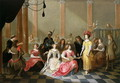 An Elegant Company at Music Before a Banquet - Hieronymus Janssens