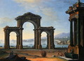 Harbour Scene with Triumphal Arch - Antonio Joli