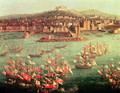 The fleet of King Charles III 1716-88 of Spain before the city of Naples - Antonio Joli