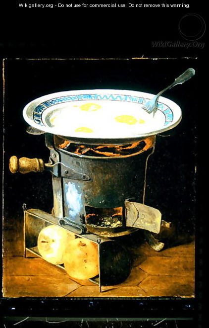 Eggs Cooking on a Stove - Gabriel-Germain Joncherie