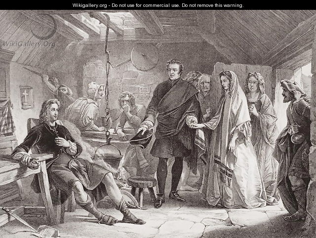 The first meeting of Prince Charles and Flora Macdonald on the island of South Uist - Alexander Johnston