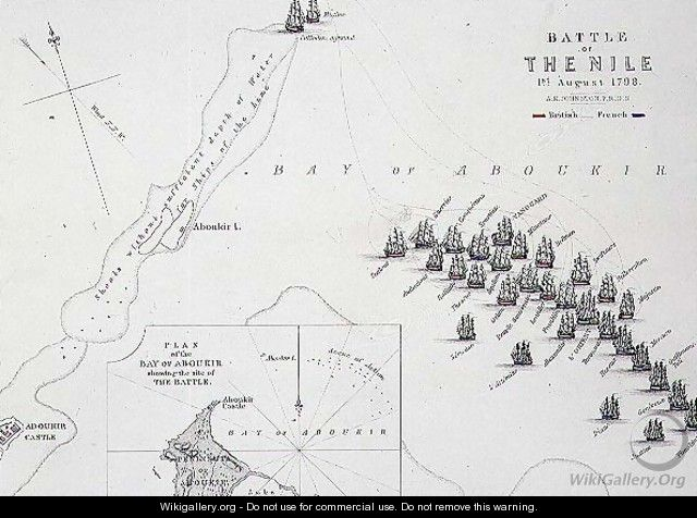 Plan of the Battle of the Nile - Alexander Keith Johnston