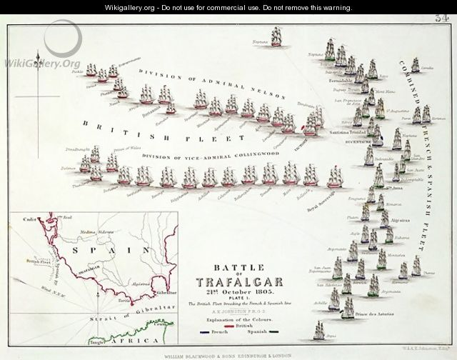 The Battle of Trafalgar - Alexander Keith Johnston