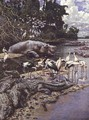 Swamp Animals and Birds on the River Gambia - Harry Hamilton Johnston