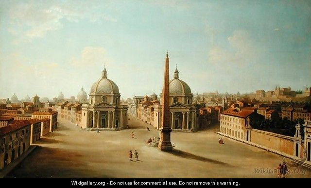A View of the Piazza del Popolo - Antonio Joli