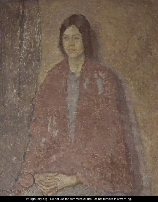 Young Woman in a Red Shawl - Gwen John