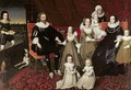 Sir Thomas Lucy 1532-1600 and Lady Alice Spencer d 1648 with Seven of their Thirteen Children - (after) Johnson, Cornelius I