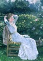 Summertime portrait of the artists wife Hannah - Edward Killingworth Johnson