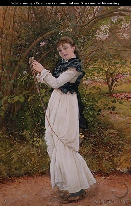 Skipping portrait of the artists daughter Barbara - Edward Killingworth Johnson