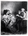 Alphonse de Lamartine 1792-1869 Reading to his Family - Tony Johannot