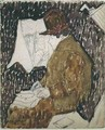 Profile of a Woman in a Railway Carriage - Gwen John