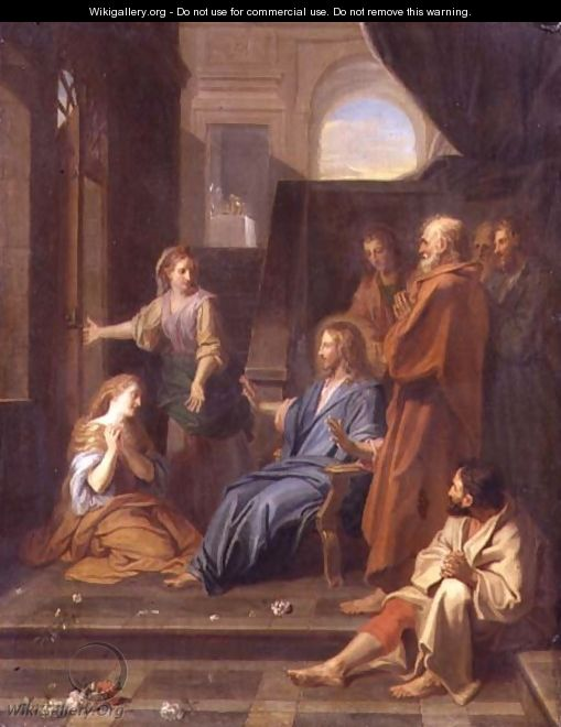 Christ in the House of Martha and Mary - Jean-baptiste Jouvenet