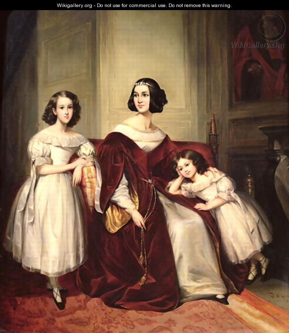 Madame de Nonjon and her Two Daughters - Joseph Nicolas Jouy