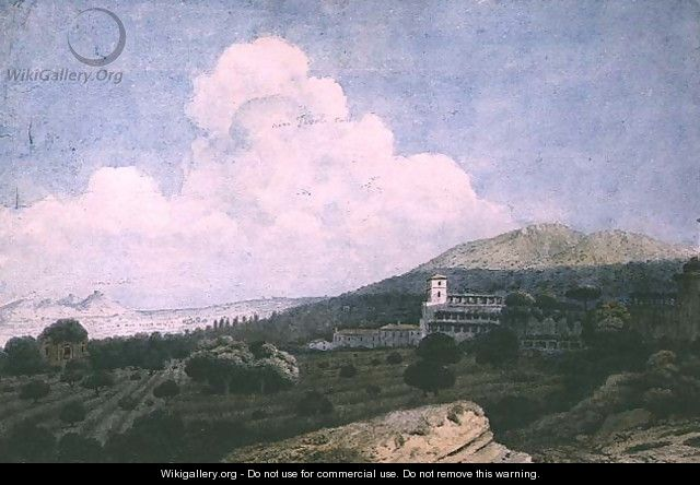 The Ruins of Maecenas Villa and the Villa dEste near Tivoli - Thomas Jones