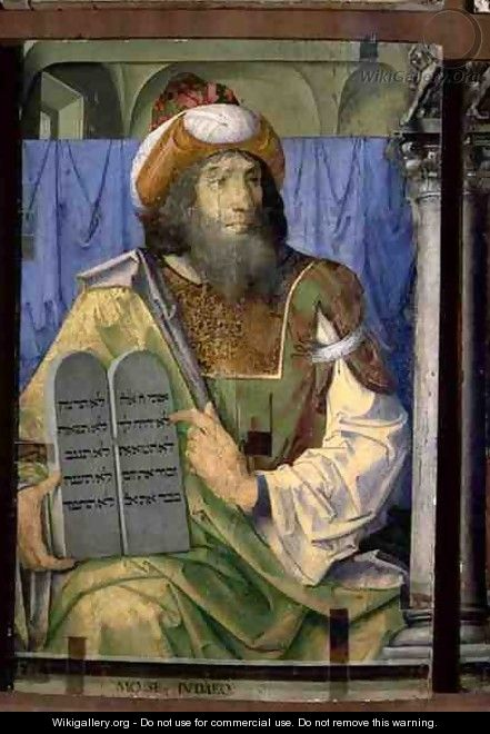 Moses With the Ten Commandments - van Gent (Joos van Wassenhove) Joos