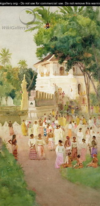 Crowds at a Monument in India - T. Hampson Jones