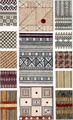 Melanesian and Polynesian bark fabric designs original illustration for The Grammar of Ornament - Owen Jones