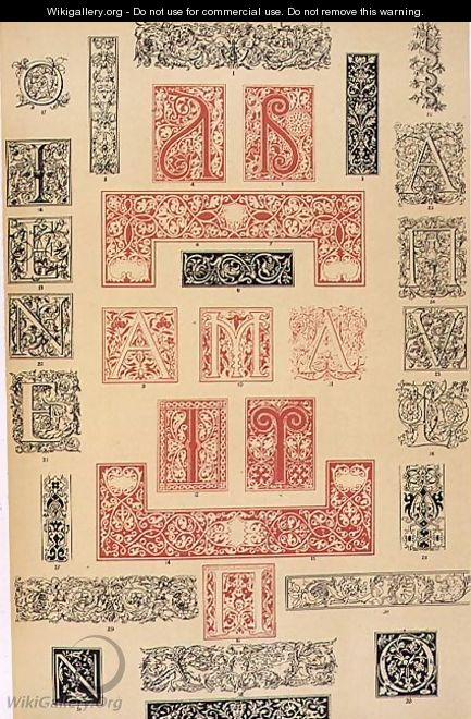 Specimens of Typographic Embellishments from 16th century Italy and France - Owen Jones