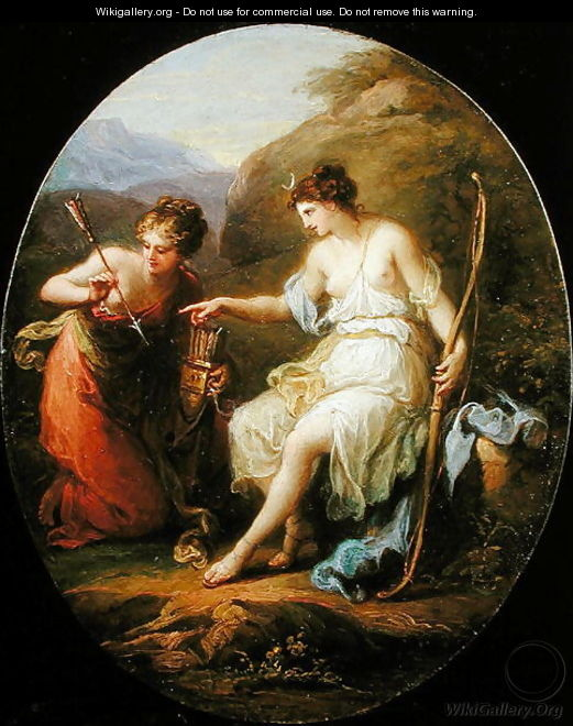 Diana preparing for Hunting - Angelica Kauffmann