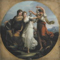 Beauty supported by Prudence Scorns the Offering of Folly - Angelica Kauffmann
