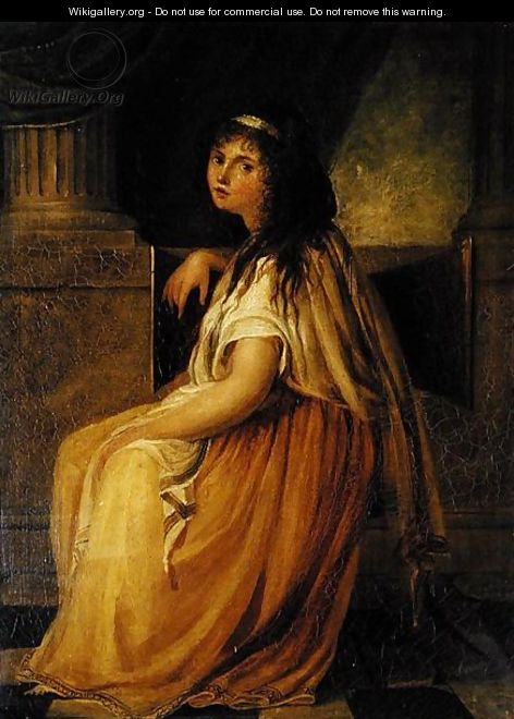 Lady Hamilton in costume for her Greek Attitudes - Angelica Kauffmann