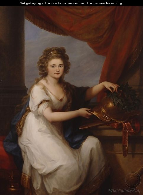 Portrait of Countess Catherine Skawronska - Angelica Kauffmann