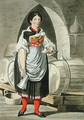 A serving girl at an Inn near Innsbruck - (after) Kapeller, Josef Anton