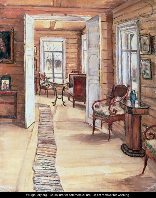 Interior of L Panteleevs house in Murmanov - Anna Nikolaeva Karinskaya