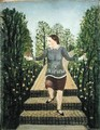 Girl Walking Down the Garden Steps - John Kane