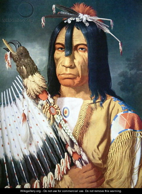 Native American Chief of the Cree people of Canada - Paul Kane