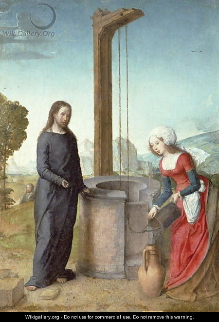 Christ and the Woman of Samaria - Flandes Juan de