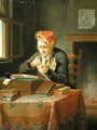 A Scholar sharpening his Quill - Justus Juncker