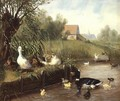 Ducks on the River Bank - Carl Jutz