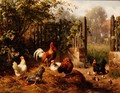Rooster with Hens and Chicks - Carl Jutz